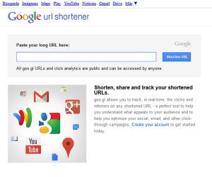 Acortador de enlaces de Google-paso 1