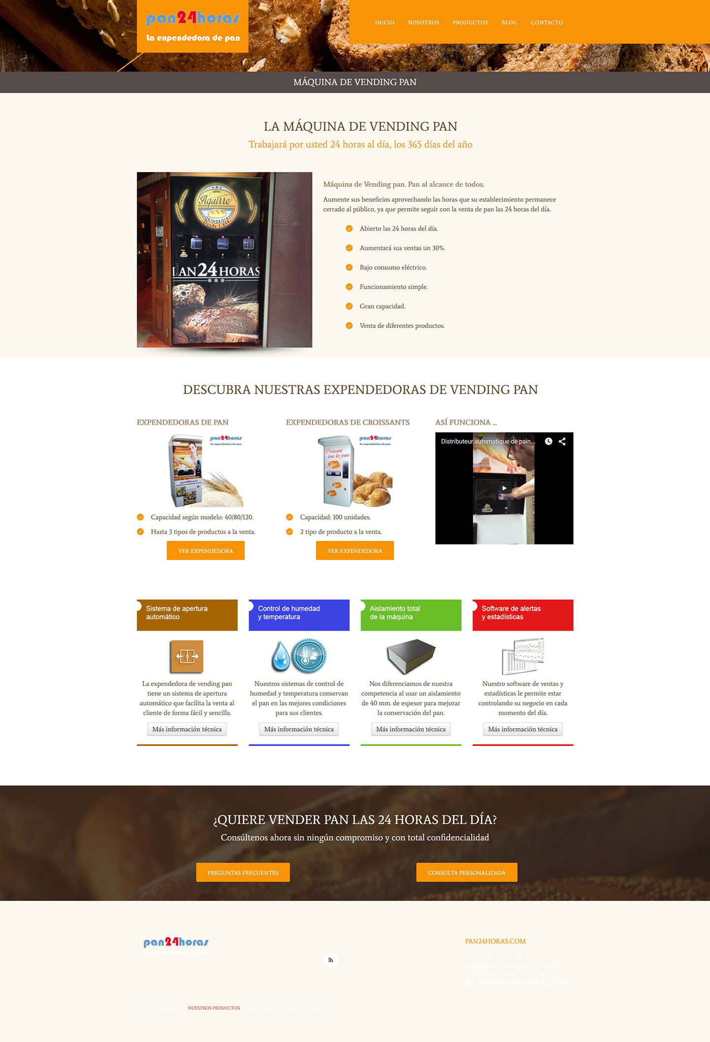 Pan24horas - Nuestros Productos