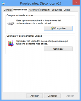 Comprobar disco duro con sistema operativo Windows