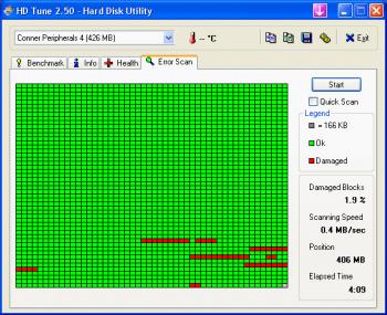 Comprobar discos duros con HD Tune