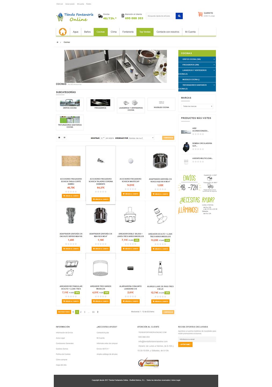 Tienda Fontanería Online - Categoría